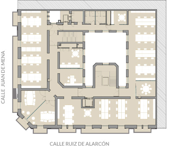 Alting - Grupo Inmobiliario - Compañía - Edificios de oficinas - Plano