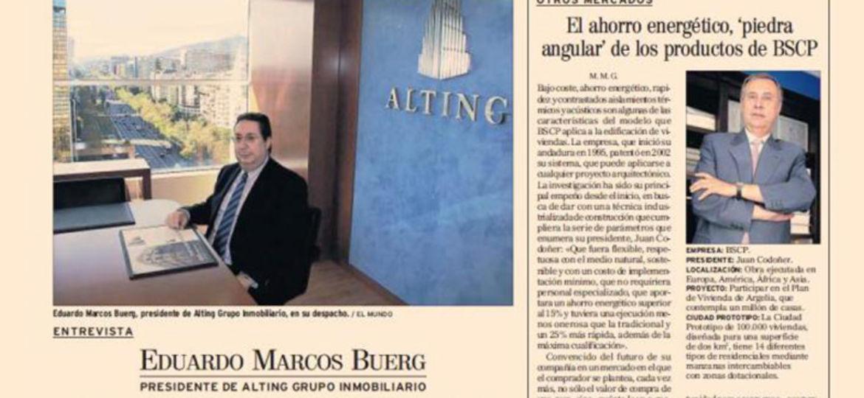 Entrevista El Mundo 20081212 - Alting